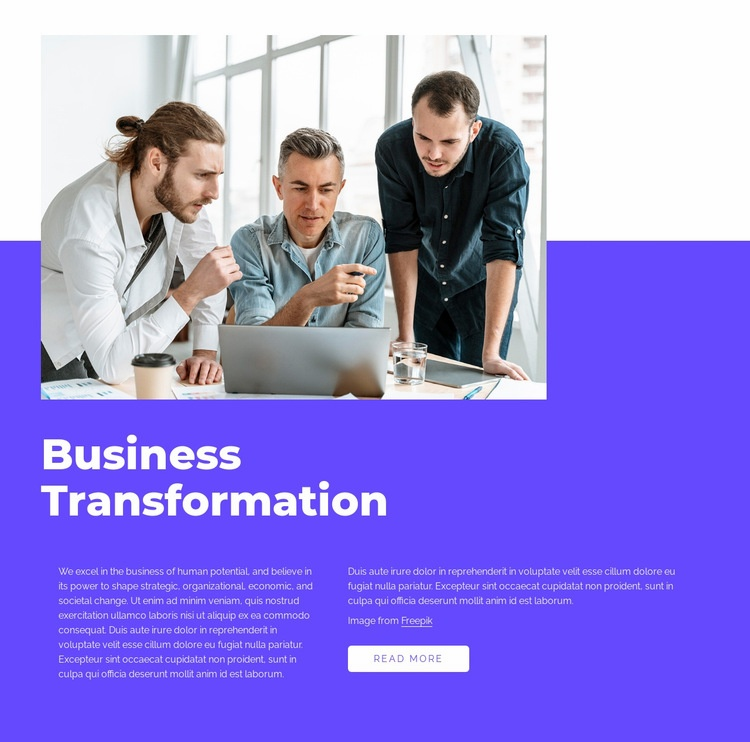 Our work is transformative Web Page Designer