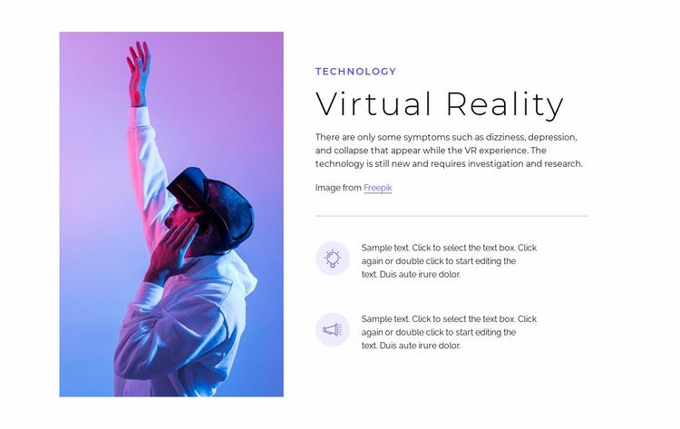 VR technology Website Template