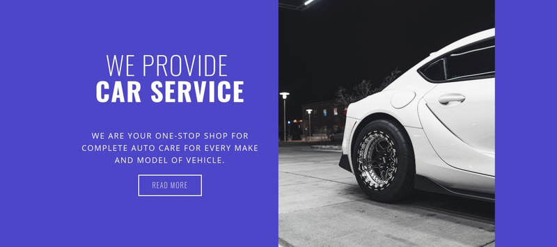 We provide car services Web Page Designer