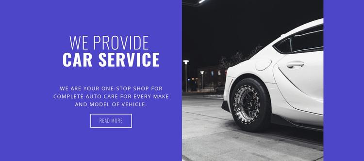 We provide car services Website Template