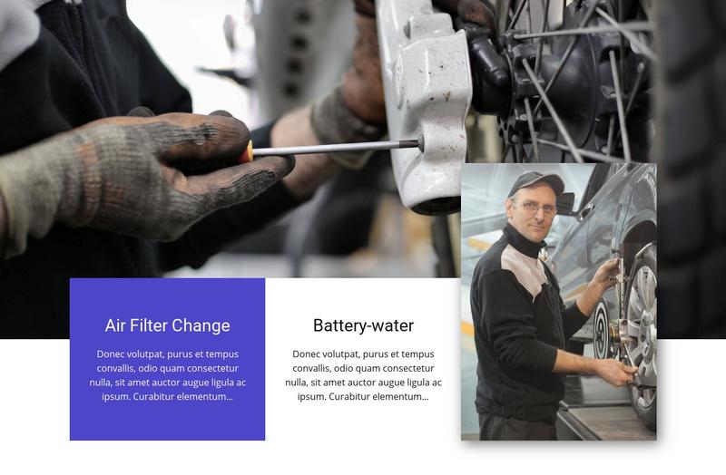 Car repair salon Website Maker