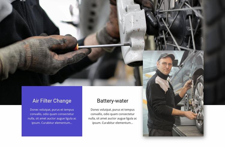 Car repair salon Website Template