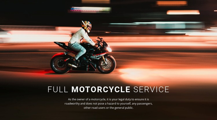 Full motorcycle service WordPress Template