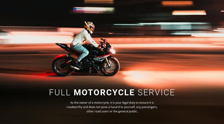Full motorcycle service WordPress Theme