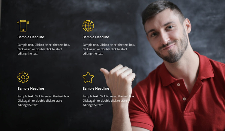 Our advantages WordPress Theme
