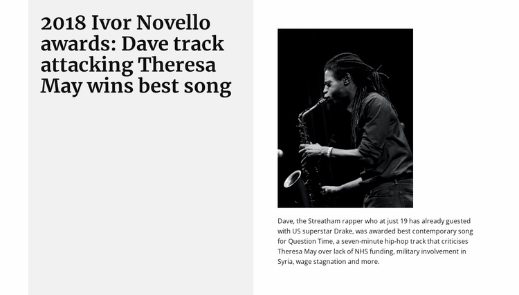 Best Saxophonist Website Template