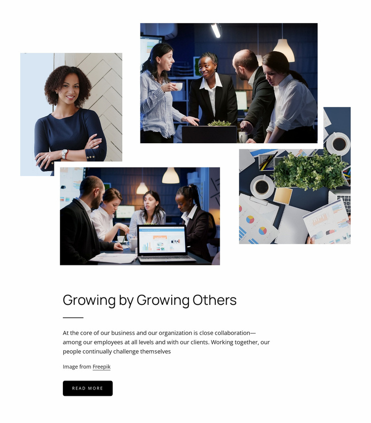Growing by growing other Website Template