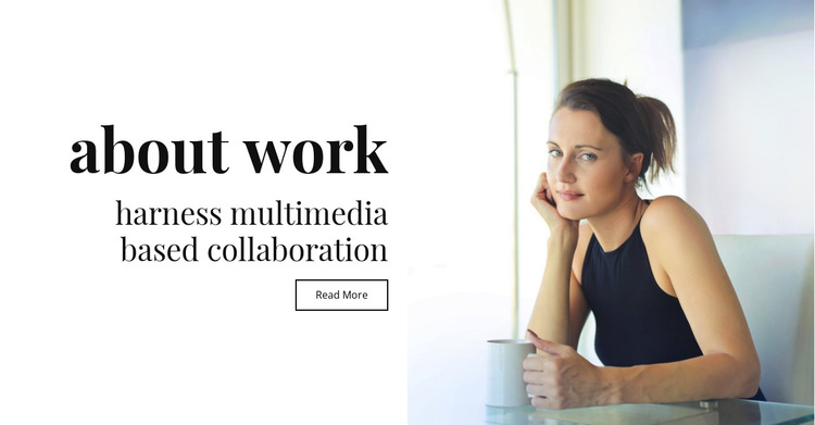 About multimedia and collaboration HTML5 Template