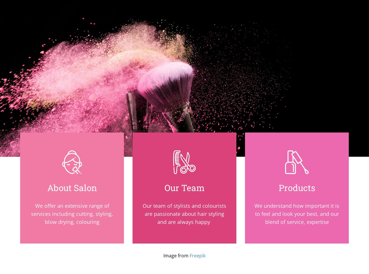 Beauty spa for princesses One Page Template