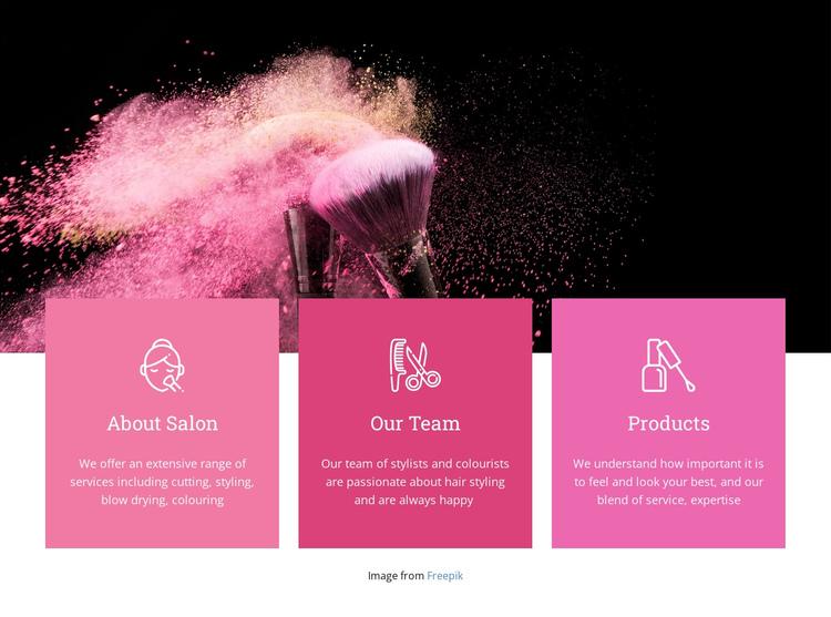 Beauty spa for princesses Website Builder Software