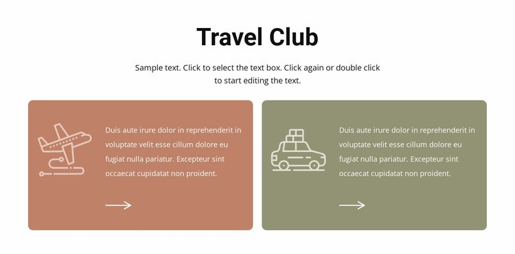Travel club Html Code Example