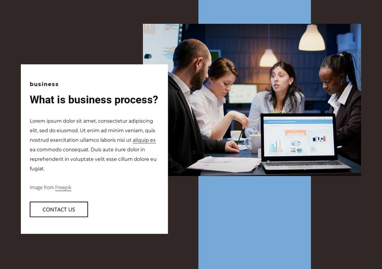 Business process Html Code Example