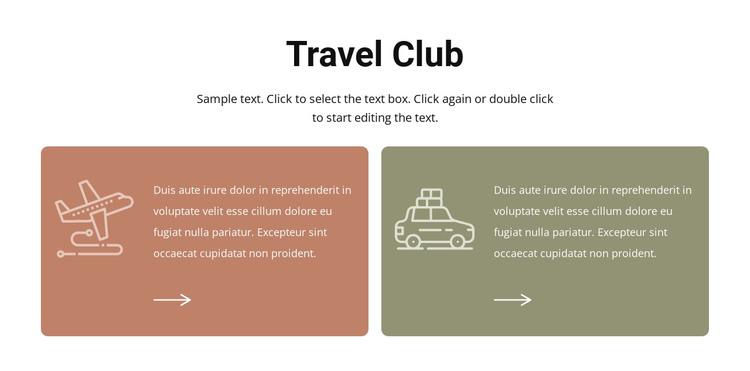 Travel club HTML Template