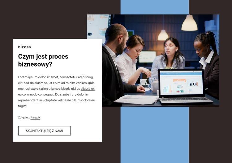 Proces biznesowy Szablon witryny sieci Web