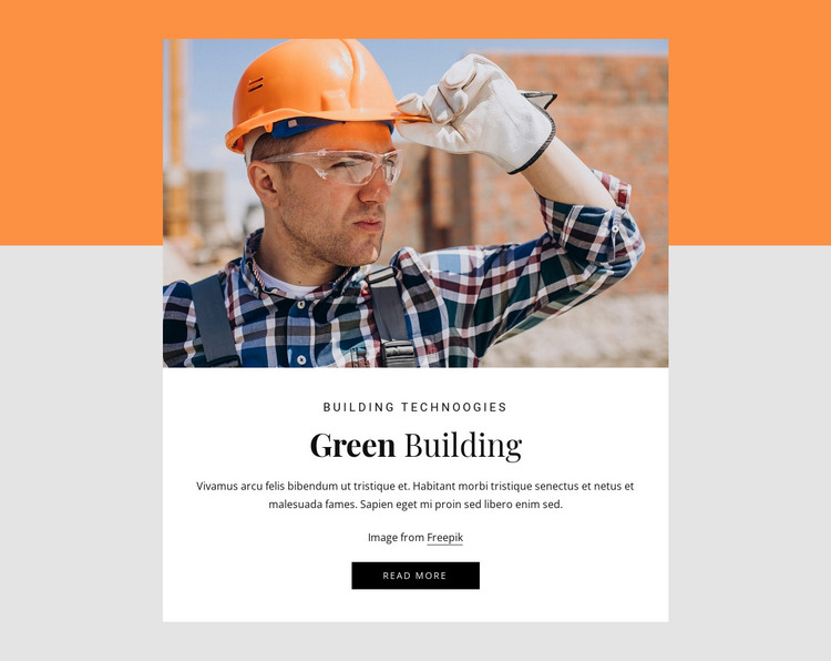 Green building HTML Template