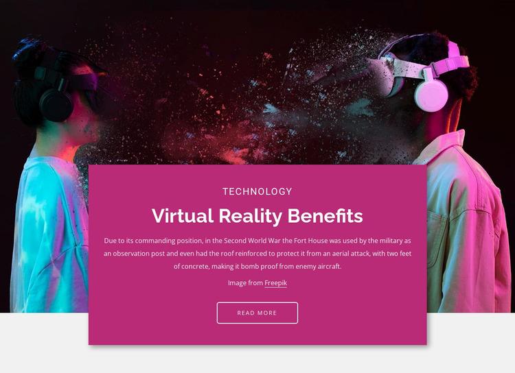 The main benefits Website Mockup