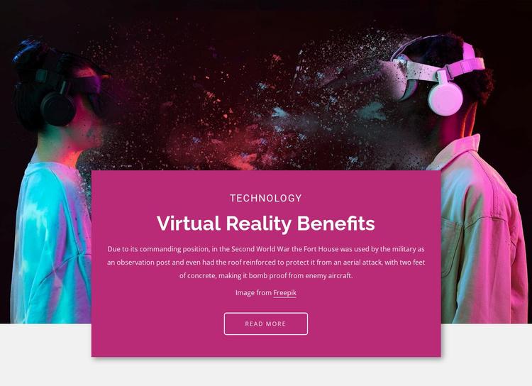 The main benefits Website Template