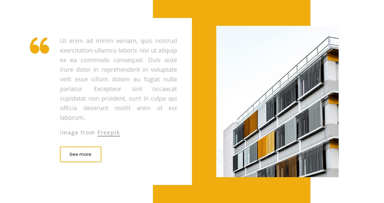 Building quote One Page Template