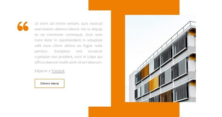 Wycena budynku Szablon witryny sieci Web