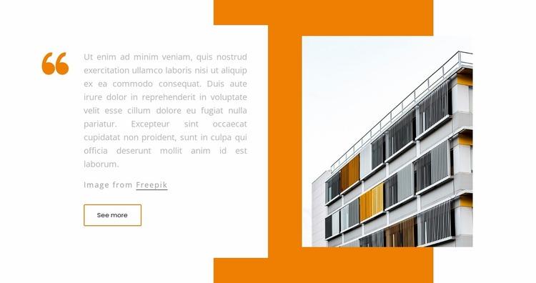 Building quote Website Mockup