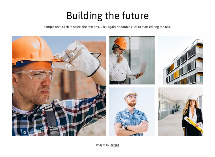 The building company Website Template