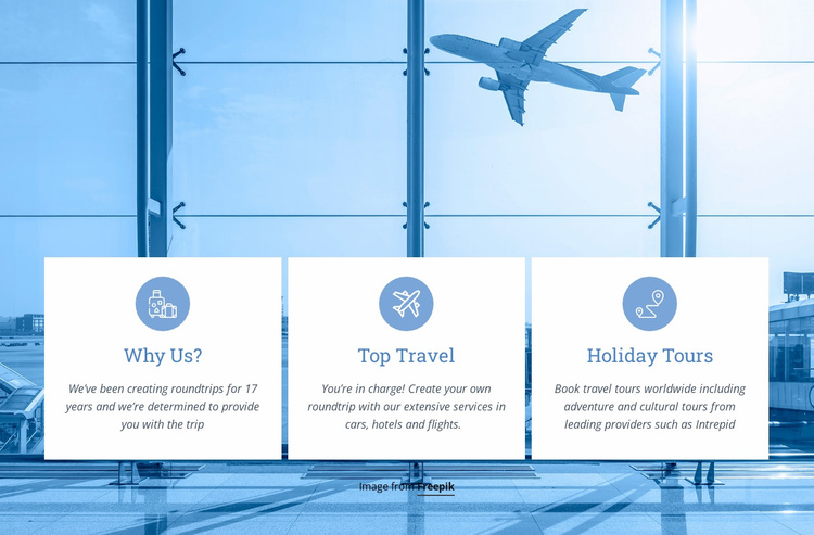 Weekend tours and holiday Website Template