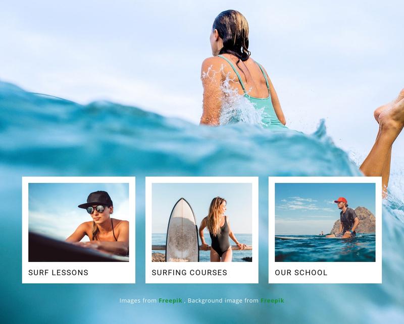 Sport surf club Web Page Design