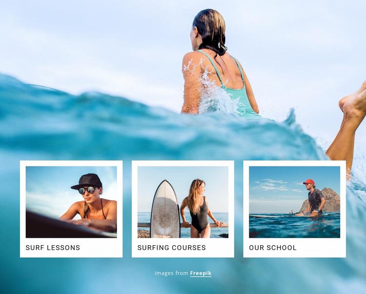 Sport surf club Website Design