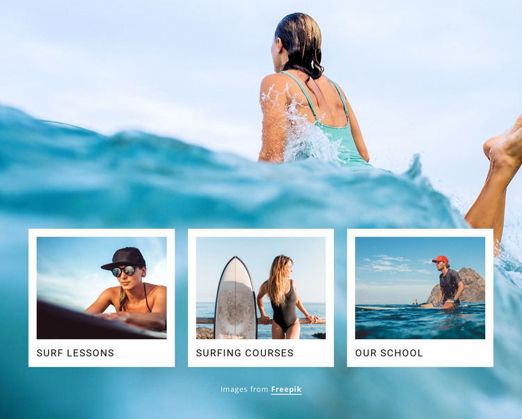 Sport surf club Website Mockup