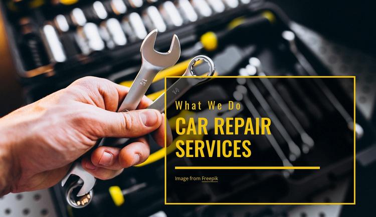 Car repair services Website Template