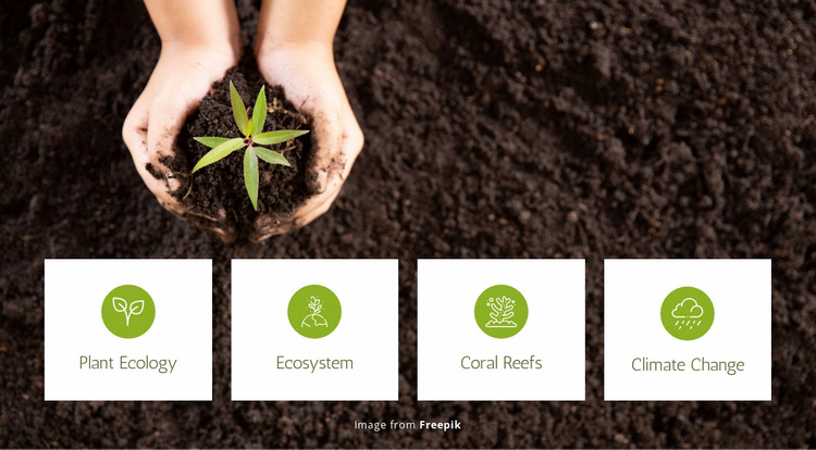 Plant ecology and ecosystem Website Template