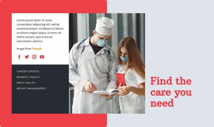 Healthcare and medicine doctor Website Template