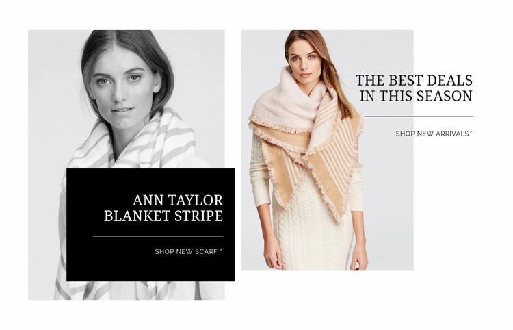 Trendy jackets Website Template