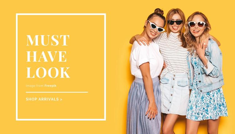 Summer outfit ideas Html Website Builder
