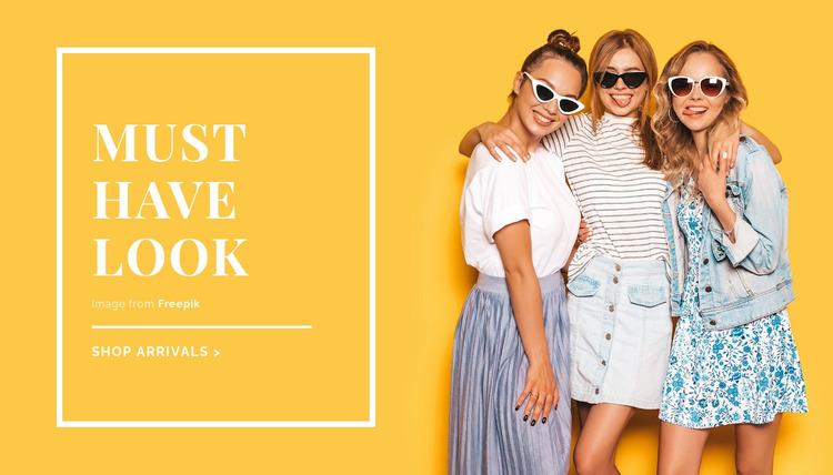 Summer outfit ideas WordPress Website Builder