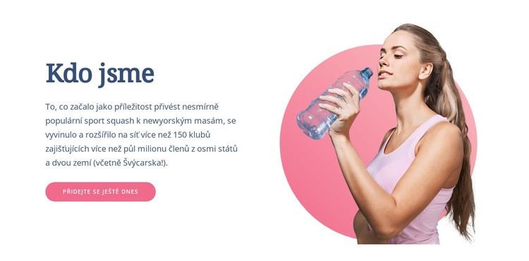 Jak trénovat tělo Šablona webové stránky