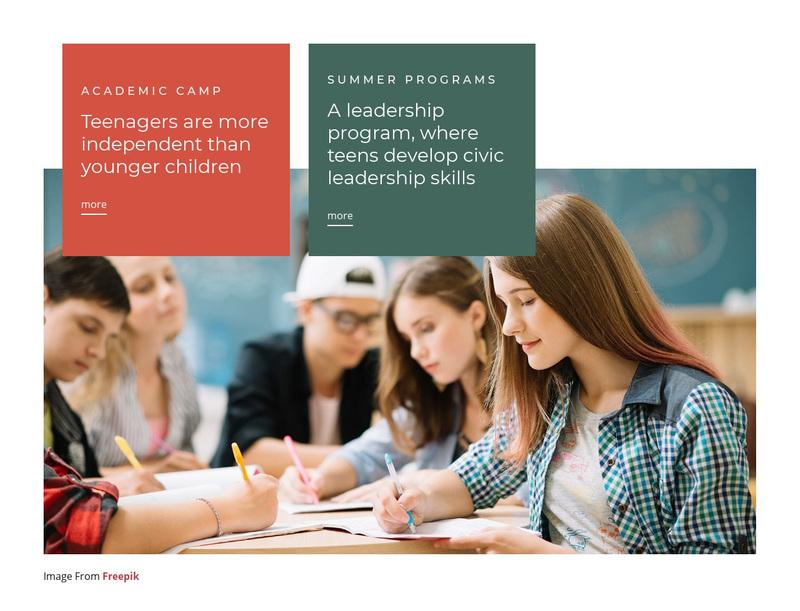 Leadership program Web Page Design