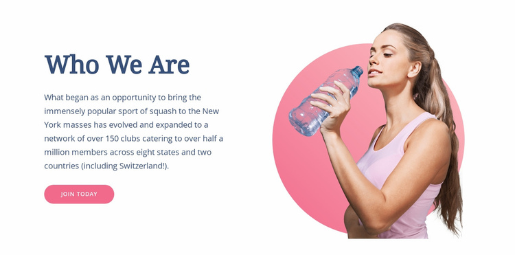 Healthy livestyle and sport  Website Template