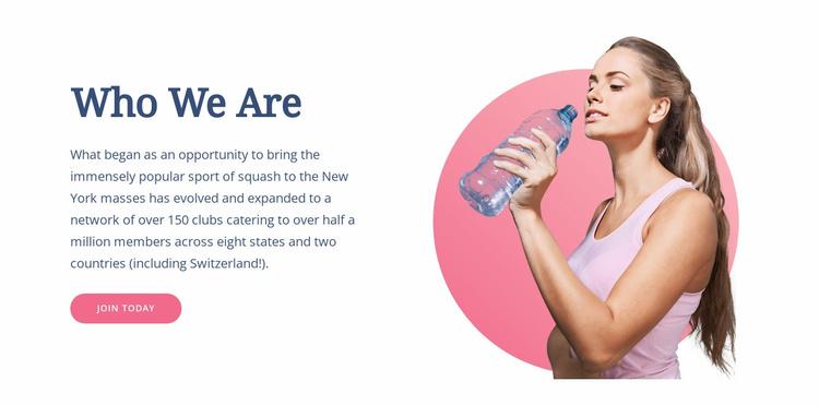 Hoe u uw lichaam traint Website sjabloon