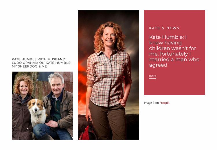 Kate Humble loves wildlife Website Template