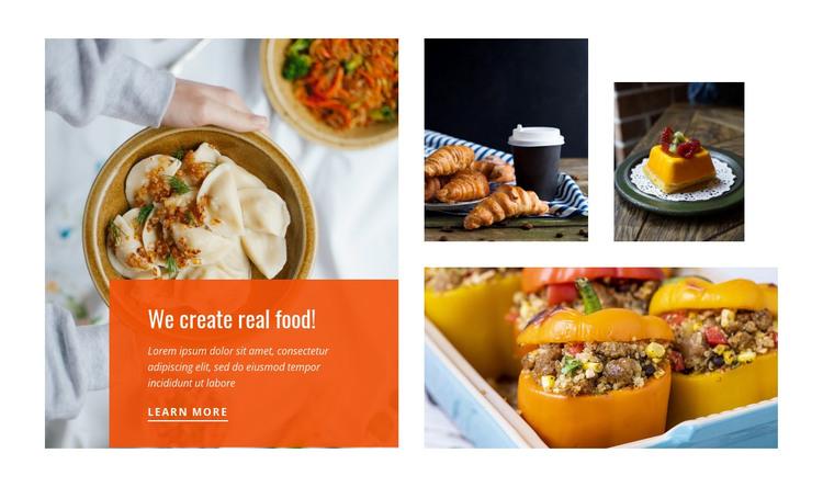 Favorite tasty food  HTML Template