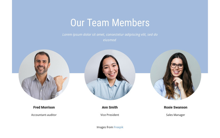 We are tight knit team HTML Template