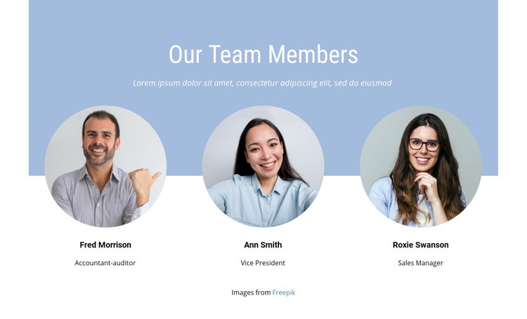 We are tight knit team Web Page Design