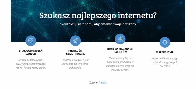 Szybka konfiguracja Internetu Szablon Joomla