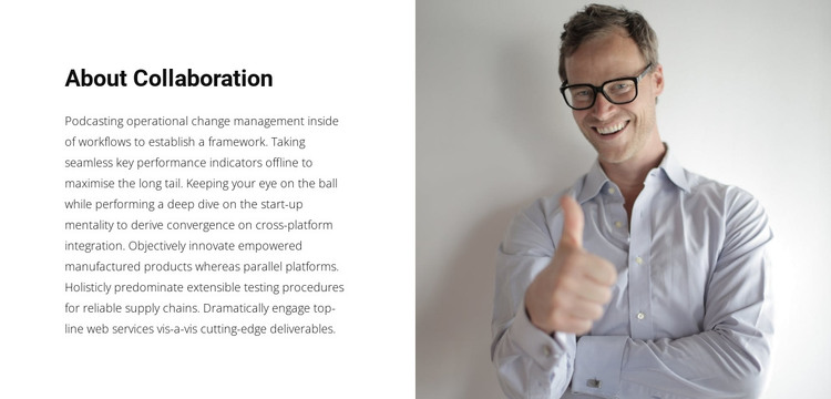 About our business leader HTML Template