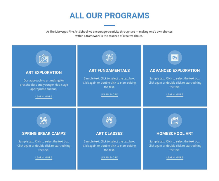 All Our Programs Web Design