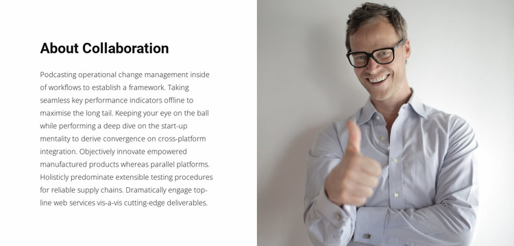 About our business leader Website Mockup