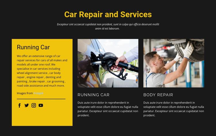 Best car mechanics Html Website Builder
