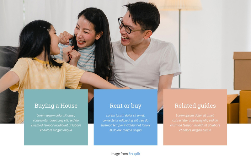 First time renting guide Web Page Design