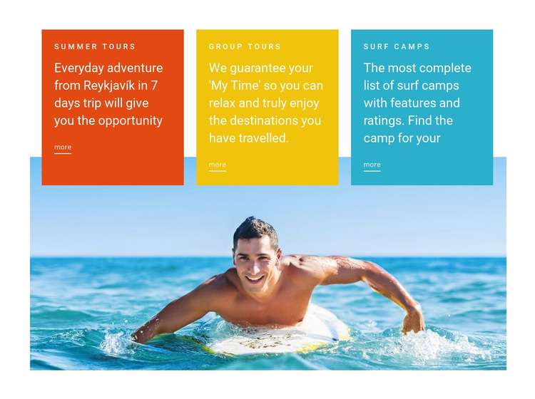 Swim lessons Joomla Page Builder